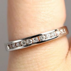 Jewelry - 14k White Real Gold And Natural Diamond Band
